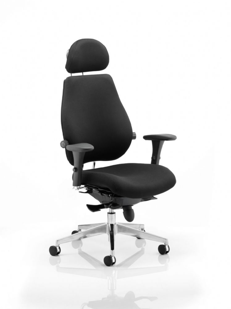 Chiro Plus Ultimate Posture Chair Arms Fully Upholstered Headrest Various Colours Available